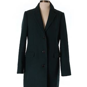 J. Crew Green Wool Coat